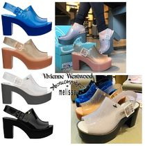 Vivienne Westwood Collaboration Plain Block Heels PVC Clothing Sabo