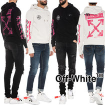 Off-White Pullovers Unisex Sweat Street Style Long Sleeves Hoodies