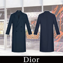 DIOR HOMME Wool Plain Long Chester Coats