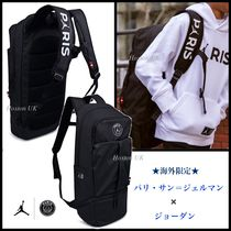 Nike AIR JORDAN Unisex Collaboration A4 Plain Backpacks