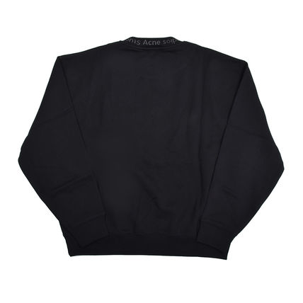 Acne Sweatshirts Crew Neck Street Style Plain Cotton Sweatshirts 2