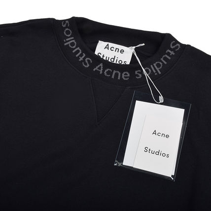 Acne Sweatshirts Crew Neck Street Style Plain Cotton Sweatshirts 3