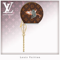 Louis Vuitton MONOGRAM Monogram Unisex Chain Coin Purses