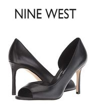 Nine West Plain Leather High Heel Pumps & Mules