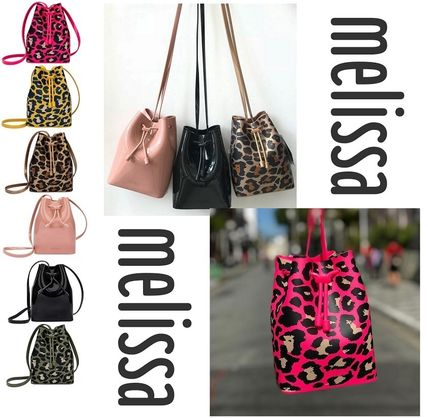 Leopard Patterns Casual Style Purses PVC Clothing