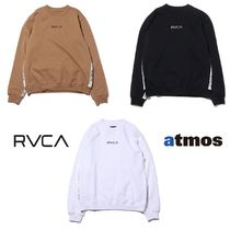 RVCA Casual Style Unisex Collaboration Long Sleeves Tops