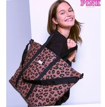 Victoria's secret PINK Leopard Patterns Casual Style Totes