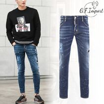 D SQUARED2 Blended Fabrics Street Style Cotton Skinny Fit Jeans & Denim