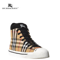 Burberry Other Check Patterns Rubber Sole Casual Style