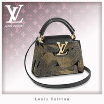 Louis Vuitton CAPUCINES Studded Leather Elegant Style Handbags