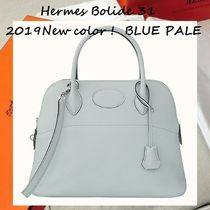 HERMES Bolide Leather Handmade Elegant Style Handbags