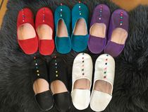 Round Toe Casual Style Handmade Slippers Slip-On Shoes