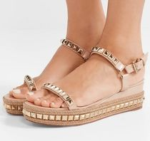 Christian Louboutin Open Toe Leather Sandals