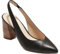 Cole Haan Plain Leather Elegant Style Chunky Heels