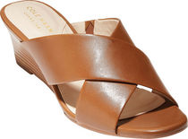 Cole Haan Casual Style Plain Leather Platform & Wedge Sandals
