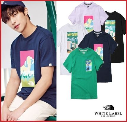 765a432c9 THE NORTH FACE WHITE LABEL 2019 SS Unisex Street Style Plain Cotton  T-Shirts (NT7UK04)