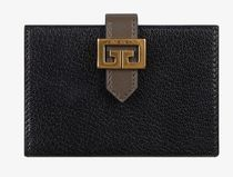 GIVENCHY GV3 Unisex Bi-color Leather Logo Card Holders