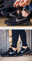 Nike AIR MAX Rubber Sole Lace-up Casual Style Street Style Plain