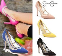 Jessica Simpson Plain Elegant Style Pointed Toe Pumps & Mules