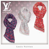 Louis Vuitton MONOGRAM Stripes Dots Unisex Silk Fringes
