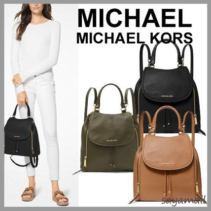 5e9740f5052b ... Michael Kors Backpacks 2WAY Plain Leather Elegant Style Backpacks ...