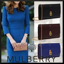 Mulberry Plain Elegant Style Clutches