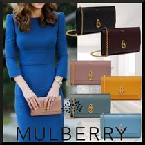 Mulberry Amberley  Plain Elegant Style Clutches