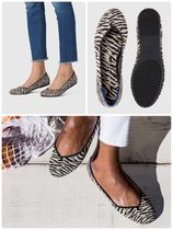ROTHY'S Zebra Patterns Casual Style Oversized Flats