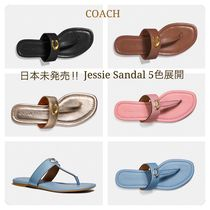 Coach Plain Leather Sandals