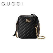 GUCCI Casual Style Tassel Plain Leather