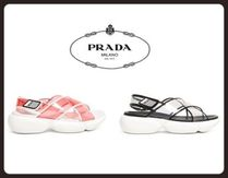 PRADA Casual Style Street Style PVC Clothing Sandals