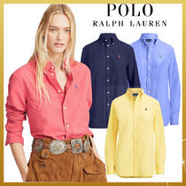 Ralph Lauren Casual Style Long Sleeves Plain Cotton Medium