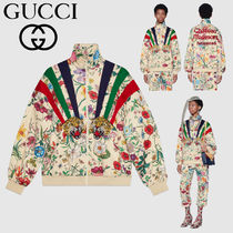 GUCCI Flower Patterns Casual Style Medium Oversized Jackets
