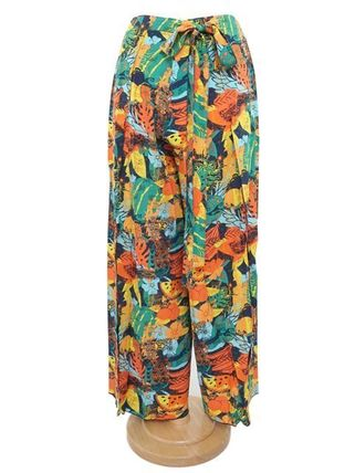 Printed Pants Tropical Patterns Casual Style Long Pants