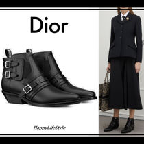 Christian Dior Casual Style Plain Leather Ankle & Booties Boots