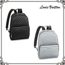 Louis Vuitton DAMIER INFINI Monogram Casual Style Unisex A4 2WAY Leather Backpacks