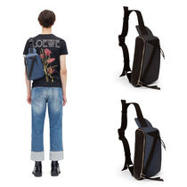LOEWE PUZZLE Unisex Calfskin Blended Fabrics Plain Backpacks