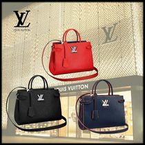 Louis Vuitton Leather Office Style Totes
