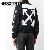 Off-White Short Stripes Street Style Varsity Jackets