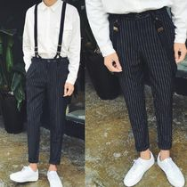 Tapered Pants Stripes Street Style Home Party Ideas