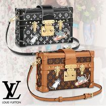 Louis Vuitton PETITE MALLE Monogram Canvas Studded 2WAY Other Animal Patterns