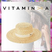 Vitamin A Straw Boaters Straw Hats
