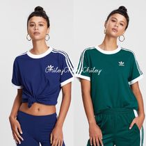 adidas Crew Neck Street Style Cotton Medium Short Sleeves