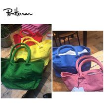 Ron Herman Casual Style Unisex Canvas Plain Totes