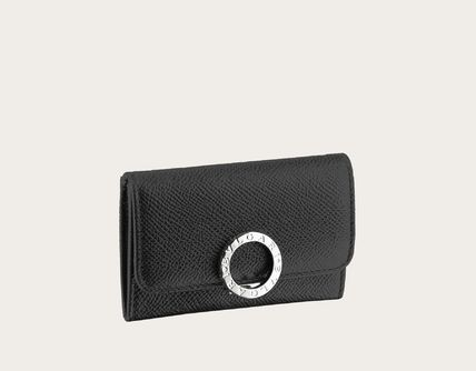 Calfskin Plain Logo Coin Cases