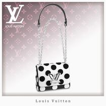 Louis Vuitton TWIST Dots Casual Style Blended Fabrics 3WAY Chain Leather