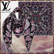 Louis Vuitton Monogram Silk Bi-color Fringes Elegant Style Accessories