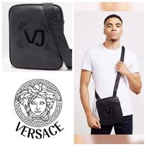 VERSACE Faux Fur Messenger & Shoulder Bags