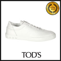 TOD'S Plain Leather Sneakers