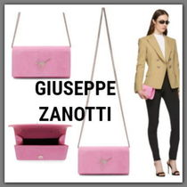 GIUSEPPE ZANOTTI Suede 2WAY Plain Party Style Shoulder Bags